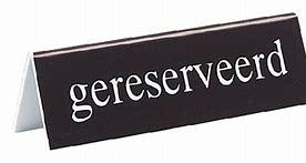Reservering voor een kerkdienst